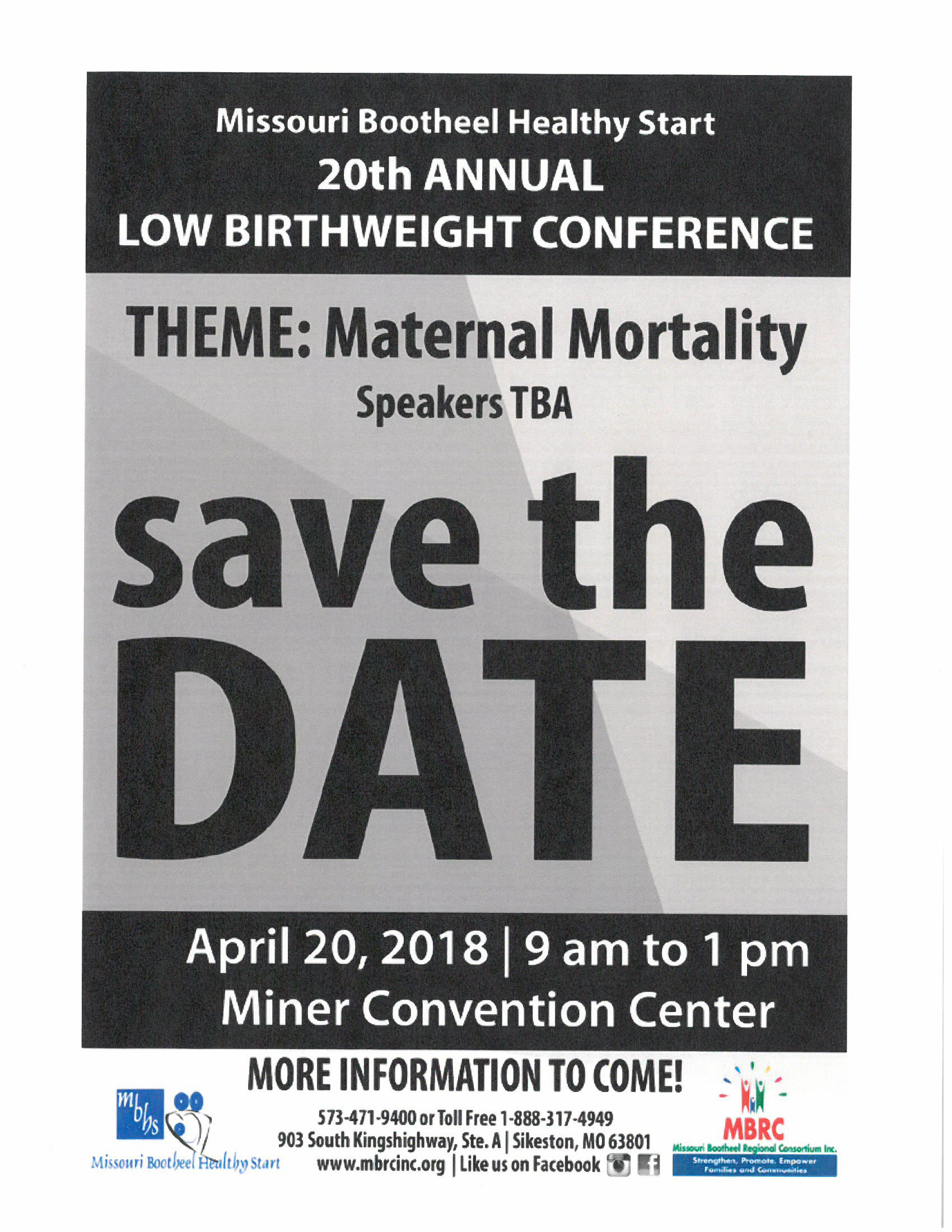 20th Annual Low Birthweight Conference @ Miner Convention Center | Sikeston | Missouri | United States