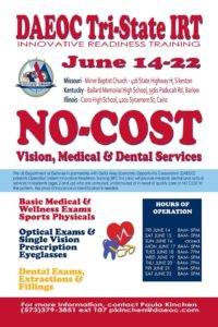 DAEOC No Cost Vision, Medical & Dental Services @ Miner Baptist Church